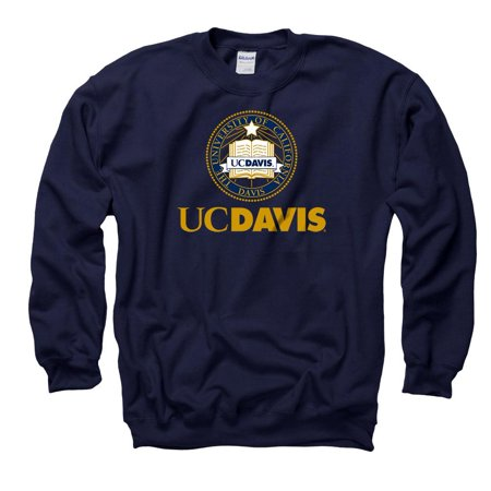 UC Davis Aggies School Seal Men's Crew-Neck Sweatshirt - - New Mexico State Aggies Seal