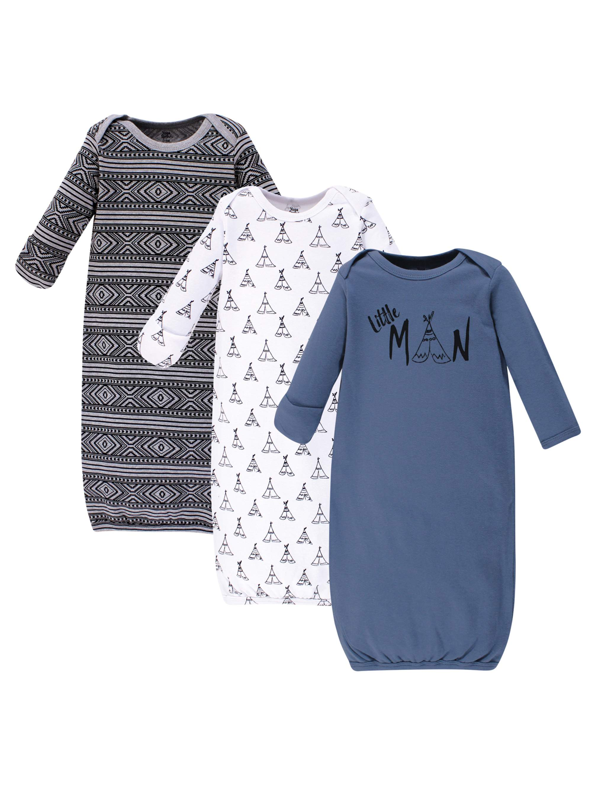 Gowns 3Pk (Baby Boys)