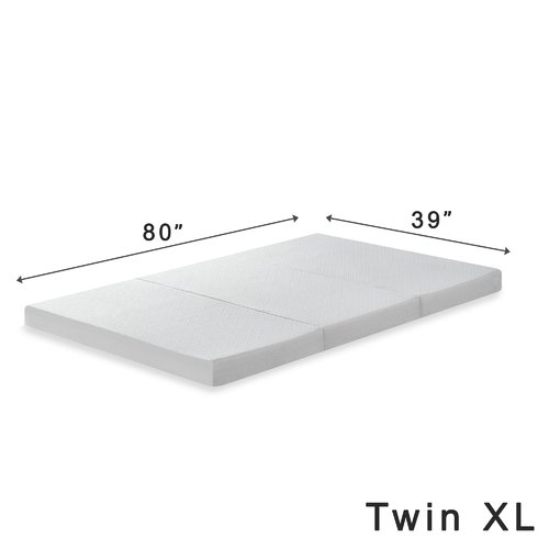 Alwyn Home Gaertner 4 Tri Fold Memory Foam Mattress Topper