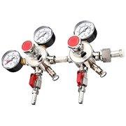 SPARC Premium Dual Output CO2 Regulator CGA320 2YR USA Warranty Beer Kombucha