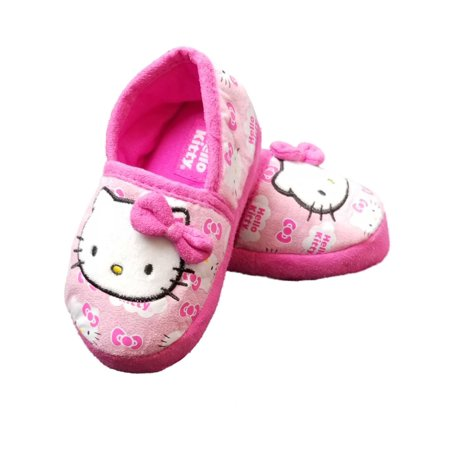 Hello Kitty Pink Toddler Girls Soft Slippers Loafer House Shoe (Hello Kitty Toms Shoes)