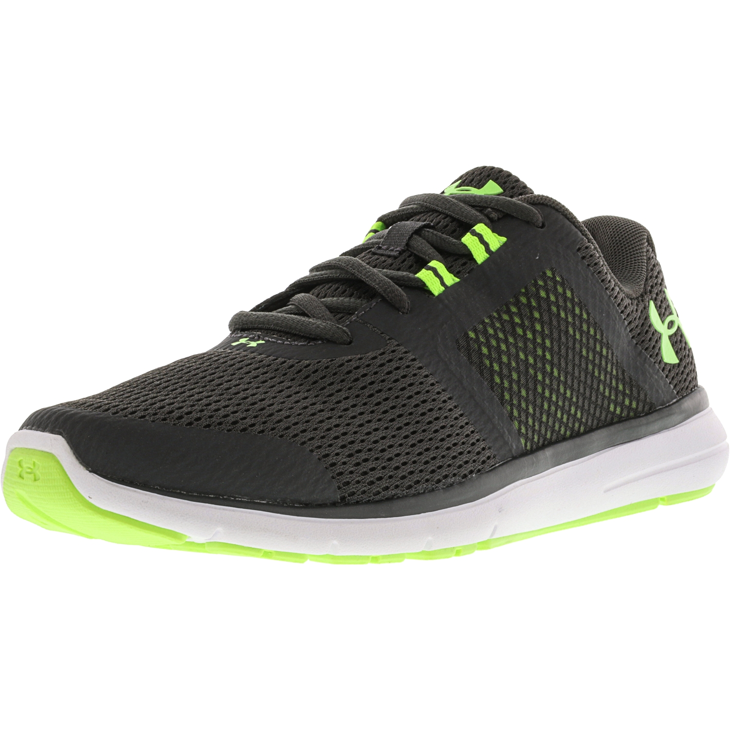 Under Armour Men's Fuse Fst Charcoal / White Quirky Lime Ankle-High Running Shoe - 7M