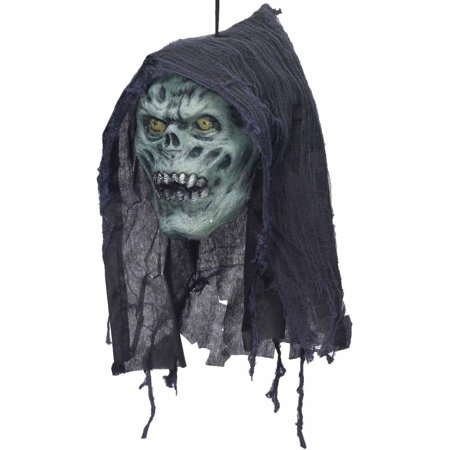 Rotten Poly Foam Head Halloween Decoration - Black Cat Blow Up Halloween Decoration