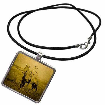 3dRose President Theodore Teddy Roosevelt on Horseback Rough Riders 1898 - Necklace with Pendant (ncl_240519_1)