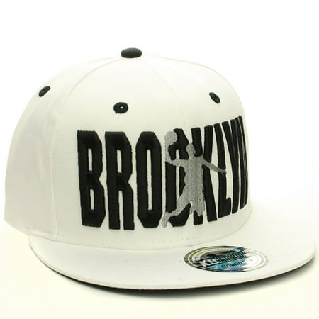 American Cities Brooklyn Flat Visor Bill Ball Player Snapback Hat