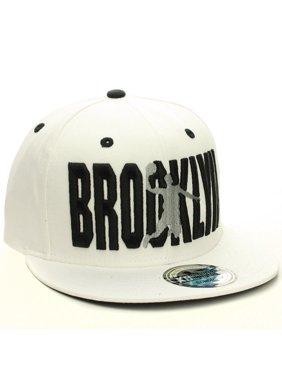 American Cities Brooklyn Flat Visor Bill Ball Player Snapback Hat Cap