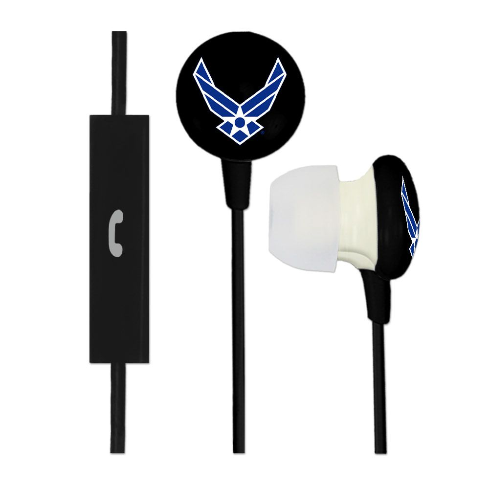U.S. AIR FORCE Ignition Earbuds + Mic - Black