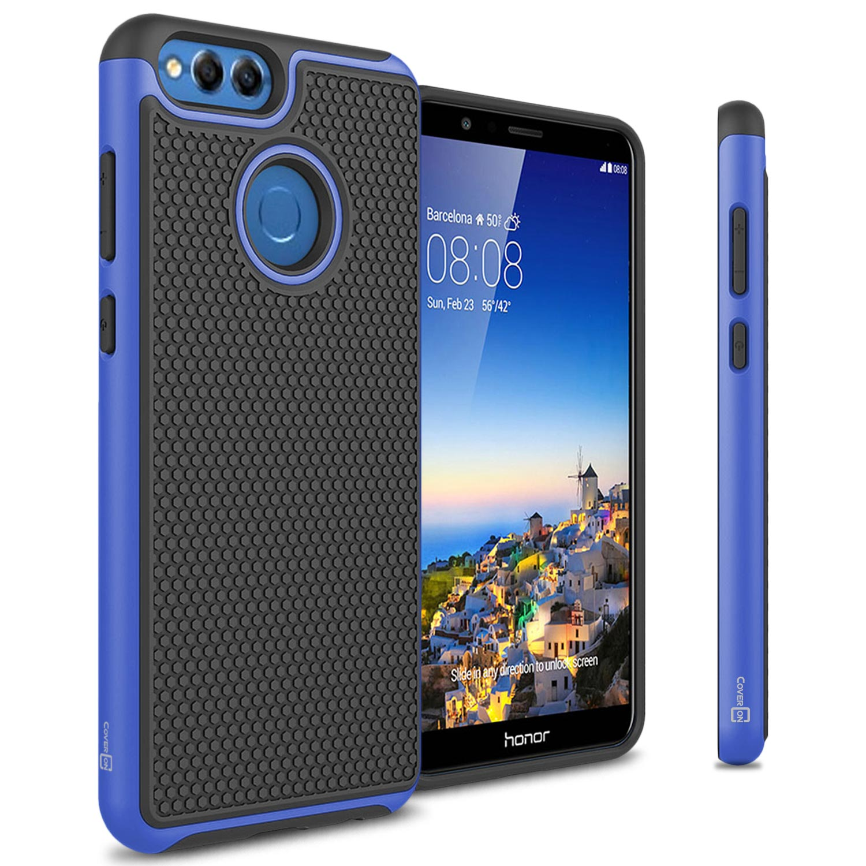 CoverON Huawei Honor 7X / Mate SE Case, HexaGuard Series Hard Phone Cover