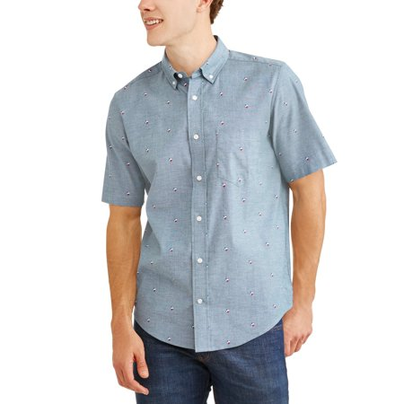 Men's Printed Stretch Woven Shirt