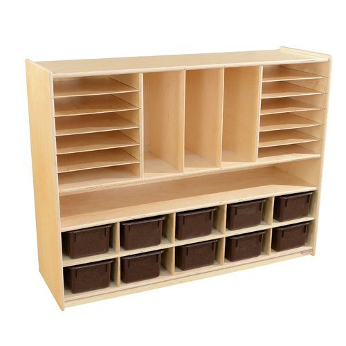Wood Designs 25 Compartment Cubby with Trays