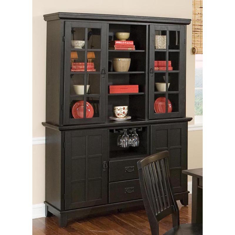 Home Styles Arts and Crafts China Cabinet - Ebony