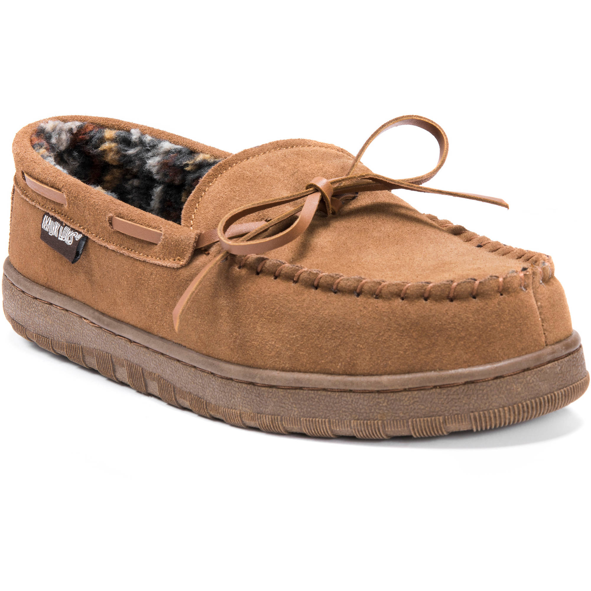 MUK LUKS Paul Men's Printed Berber Suede Moccasin Slippers