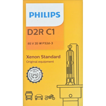 Philips D2RC1 Xenon HID Headlight Bulb, Pack of 1