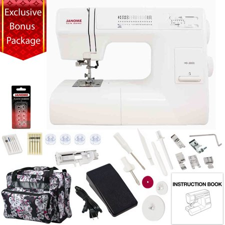 Janome hd3000 mechanical sewing machine w bonus package for Janome memory craft 350e manual