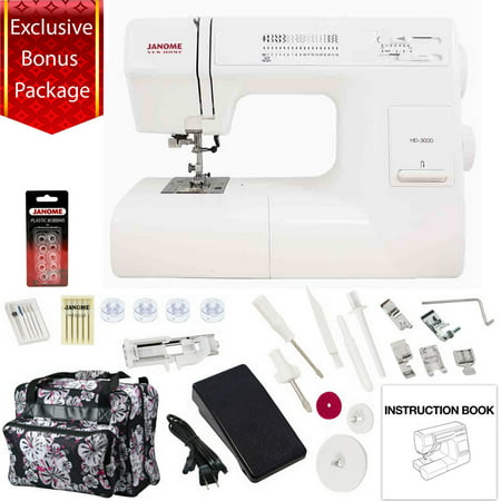 Janome hd3000 mechanical sewing machine w bonus package for Janome memory craft 3000