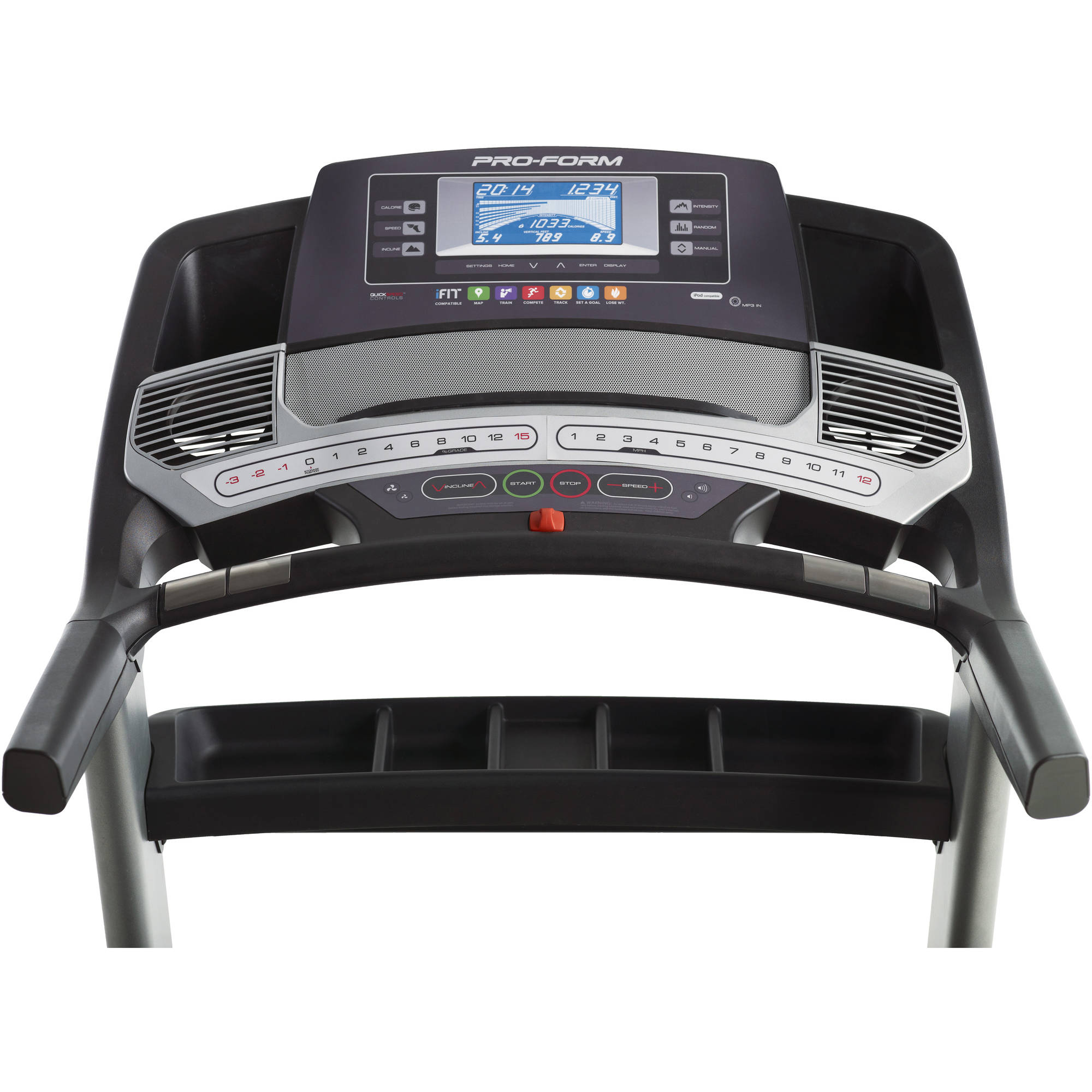 ProForm Pro 2000 Folding Treadmill with Incline, Decline, and ...