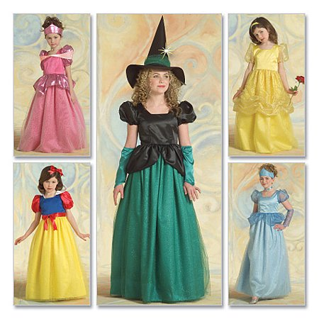 Children's/Girls' Princess and Witch Costumes-CHJ (7-8-10-12-14) *SEWING PATTERN*