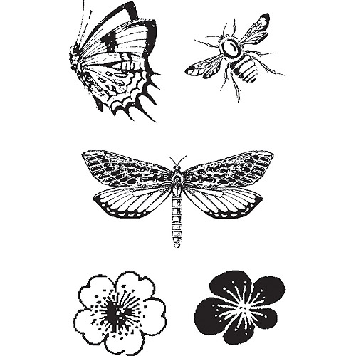 "Graphic 45 Cling Stamps, .75"" To 2"", Butterfly Specifics"