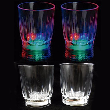 4 pcs Multi Color Flashing LED Light Up Shot Glasses Drink Barware Party Supply Band Shot Glasses