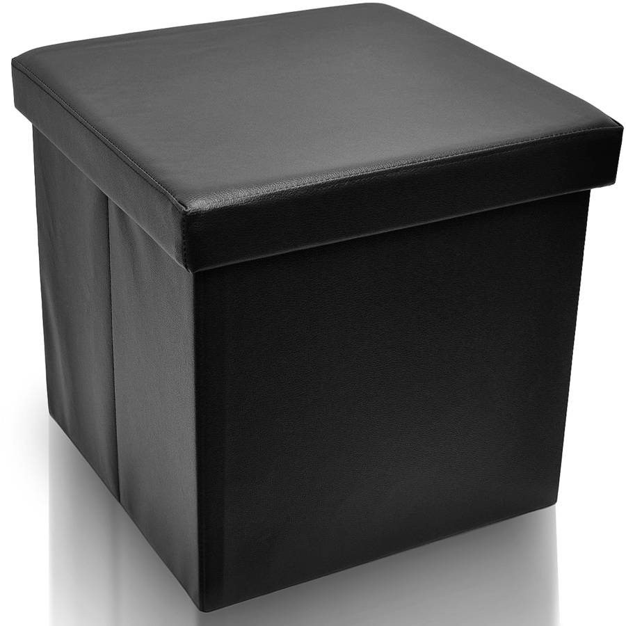Sorbus Foldable Storage Ottoman, Collapsible/Folding Cube Ottoman With  Coveru0026#8211;Perfect