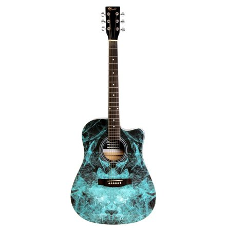 - Lindo Blue Fractal Apprentice Series 42C Acoustic Guitar and Gig Bag