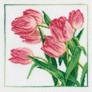 Tulips Counted Cross Stitch Kit-8''X8'' 14 Count