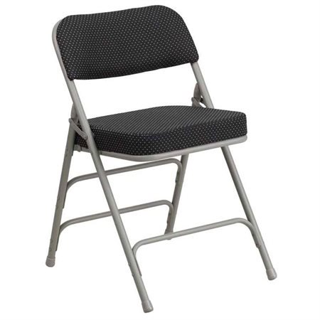 Flash Furniture HERCULES Series Premium Curved Triple Braced and Double Hinged Pin-Dot Fabric Upholstered Metal Folding Chair, Multiple Colors](Diy Folding Chair)