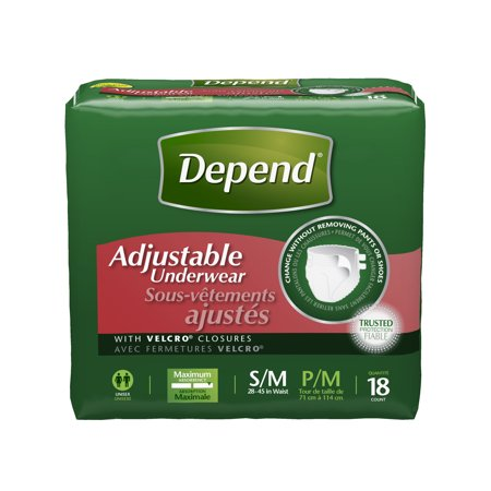 c465be20d Depend Adjustable Incontinence Underwear Maximum Absorbency S M