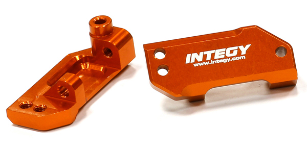 Integy RC Toy Model Hop-ups T8663ORANGE Billet Machined Front Caster Blocks for 1 10... by Integy