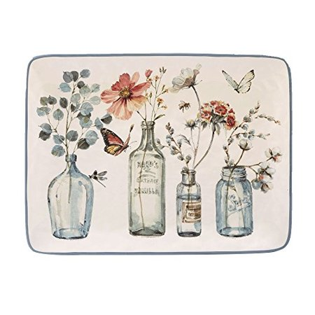 - Certified International 23604 Country Weekend Rectangular Platter Ceramic Serveware, One Size/16 x 12, Multicolor