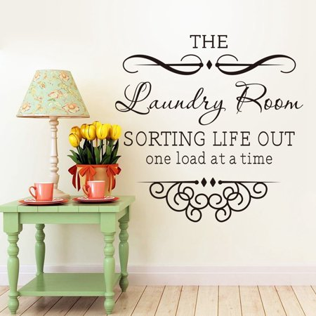 Meigar The Laundry Room Quote Removable Words Wall Stickers Decal Home Kitchen Decor - Printable Halloween Word Wall Words