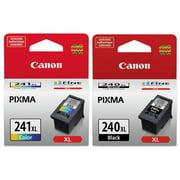 Genuine Canon PG-240XL Black Ink Cartridge (5206B001) + Canon CL-241XL High Capacity Color Ink Cartridge (5208B001)