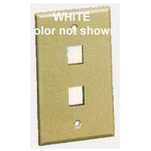 Icc Face-2-wh Ic107f02wh - 2port Face White (face2wh)