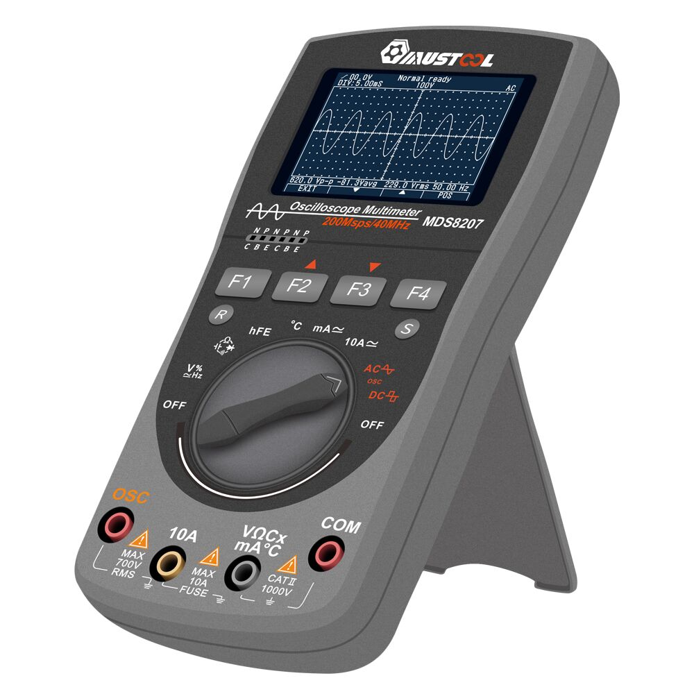 MUSTOOL MDS8207 2in1 Digital Oszilloskope Multimeter Amperemeter 40MHz  O