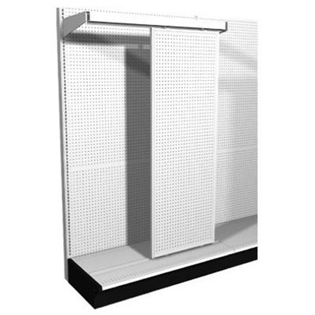 Lozier Store Fixtures DTVHDSL84PK1 48 W x 84 H in. White Heavy Duty Sliding Pegboard Panel