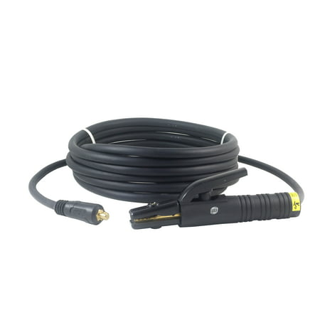 Awg Lead (150 Amp Welding Electrode Holder Lead Assembly - Dinse 10-25 Connector - #4 AWG cable (15 FEET))