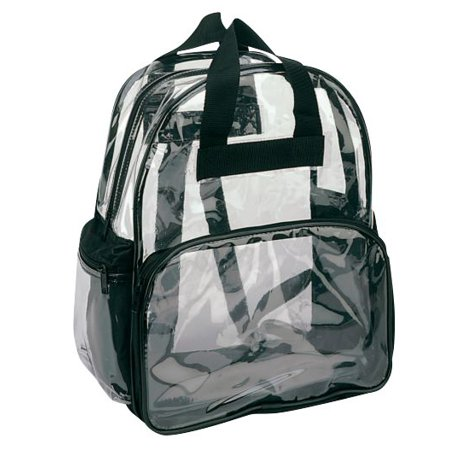 Clear Backpack Book Bag Transparent School Sports Stadium Concert Arena TSA Security Shoulder Travel 3 - Clear Cinch Bag