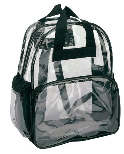 Clear Backpack Book Bag Transparent School Sports Stadium Concert Arena TSA Security Shoulder Travel 3 Pockets