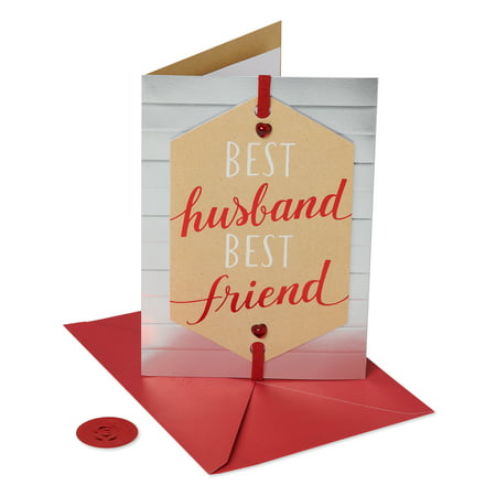 American Greetings Premier Best Husband Birthday Greeting Card with Foil ()