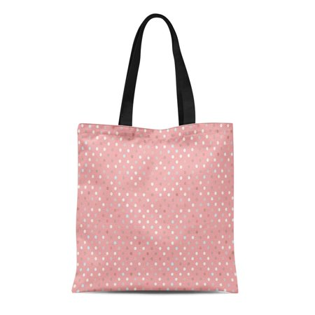 HATIART Canvas Tote Bag Pink Abstract Pattern Polka Dot Trend Pastel Baby Border Durable Reusable Shopping Shoulder Grocery Bag - image 1 of 1