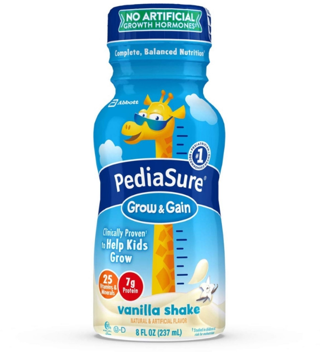 2 Pack - Pediatric Oral Supplement PediaSure Vanilla 8 oz Bottle Ready to Use