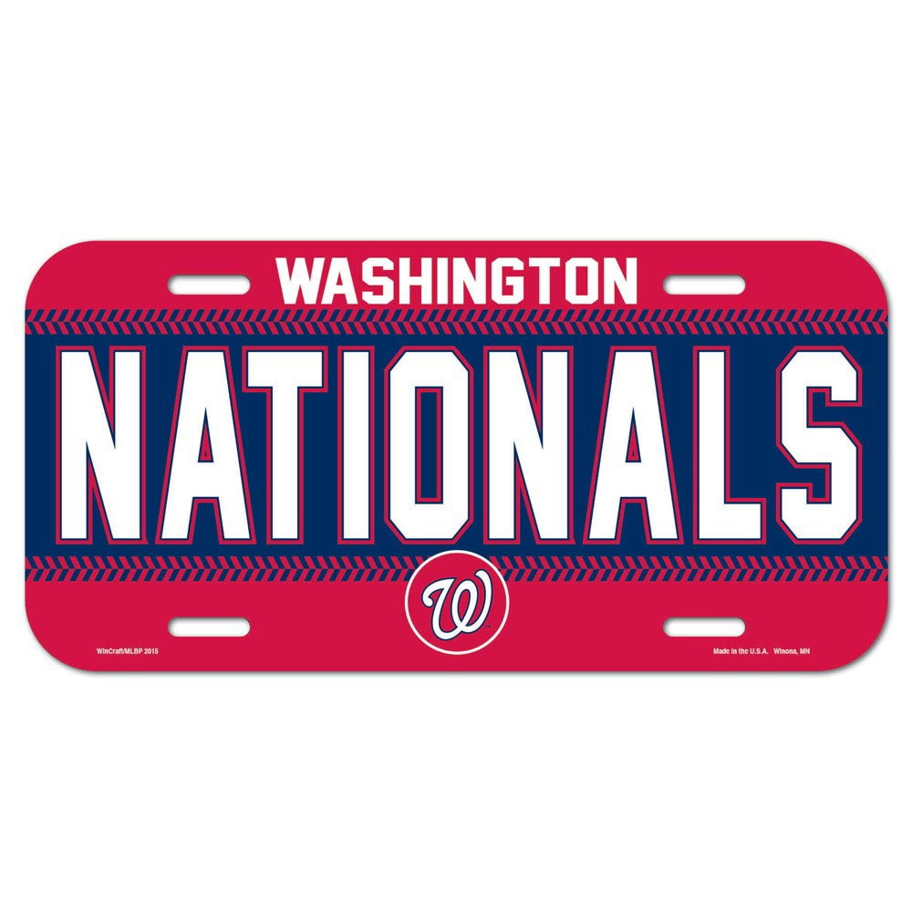 Washington Nationals WinCraft Logo Plastic License Plate - No Size