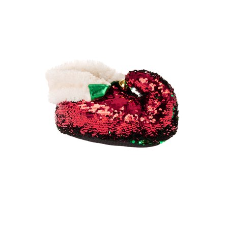8d96afa13ec Holiday Time Women s Sequined Elf Slippers – Walmart Inventory ...