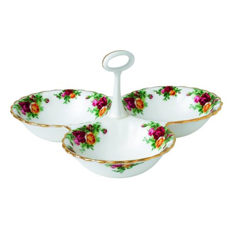 Royal Doulton Old Country Roses Divided Tray, 5.1-Inch, -