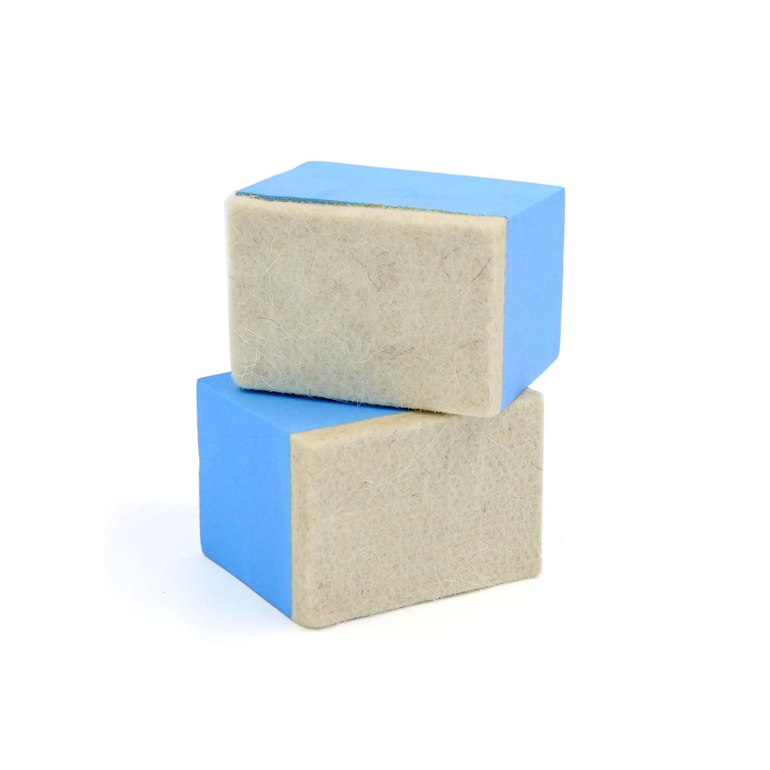 2Pcs Blue Beige Sponge  Car Vehicle Polishing Pad Waxing Buffing Tool - image 1 of 2