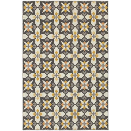 "Style Haven StyleHaven Panel Grey/Gold Indoor-Outdoor Area Rug (3'3x5') - 3'3"" x 5'"