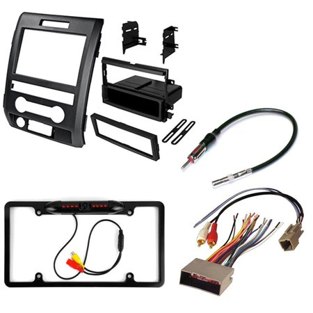 Ford Escort Radio Install Kit (FORD F-150 2009 2010 2011 2012 AFTERMARKET CAR STEREO INSTALL KIT DASH MOUNTING KIT + RADIO HARNESS+ ANTENNA ADAPTER+ REAR VIEW NIGHT VISION CAMERA )