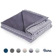 "Bare Home Duvet Cover for Weighted Blanket (48""x72"") Blanket Cover Youth Size, Ultra-Soft Minky Removable and Washable, Circle Pattern (Dusty Purple/Iris)"