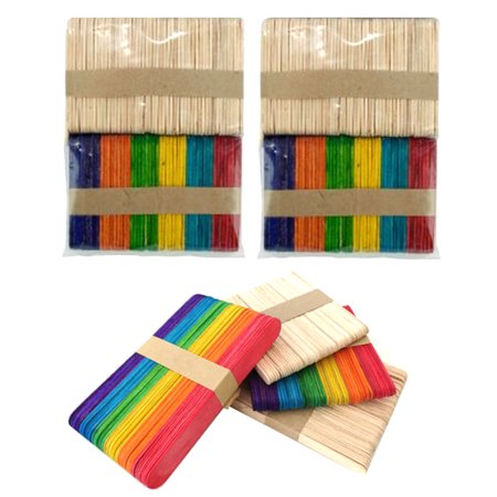 200 Pc Mini Multi Color Natural Wooden 2 1/2