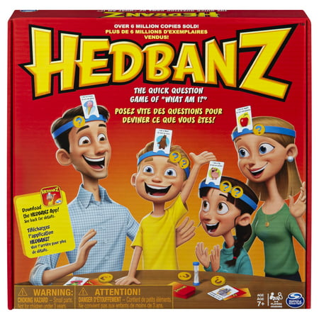 Hedbanz, Quick Question Family Guessing Game for Kids and Adults (Edition May
